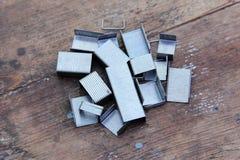 Staples for stapler Royalty Free Stock Images