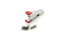 Staples and stapler Stock Photo
