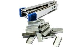 Staples and stapler Stock Image