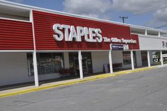 The Staples Store in Greenbelt,Marylan stock photography