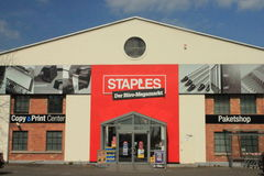 Staples store stock photography