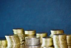 Staples von Euromünzen Lizenzfreies Stockfoto