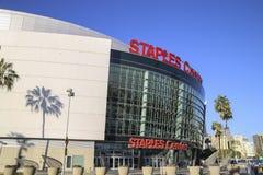 Staplowego centrum sport, rozrywka dom cążki i Lakers zespalamy się obrazy stock