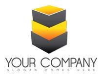 Staplungskasten-Logo Lizenzfreies Stockbild