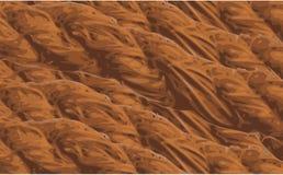 Staplungssaubere einfache Vektorillustration des jutefaserseilhintergrundes Lizenzfreie Stockfotografie
