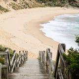 Stappen aan het strand royalty-vrije stock foto