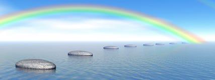 Stappen aan regenboog Royalty-vrije Stock Afbeelding