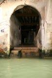 Stappen aan water, Venetië Stock Foto
