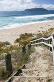 Stappen die tot een strand leiden Royalty-vrije Stock Foto's