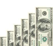 Stappen die van dollars worden gemaakt Stock Foto