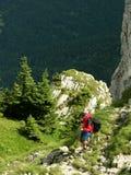 Stappen in Karpatische berg Royalty-vrije Stock Foto