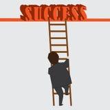 Stappen naar succes Stock Afbeelding