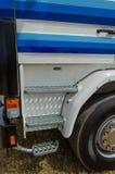 Stappen op de cabine van een vrachtwagen royalty-vrije stock afbeelding