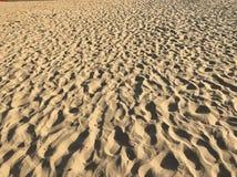 Stappen op het zand Stock Afbeeldingen