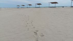 Stappen op zand Stock Fotografie