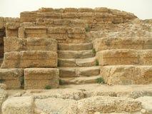Stappen, Roman Theater, Caesarea, Israël, Midden-Oosten stock afbeelding