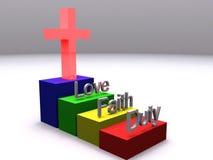 Stappen van Christendom Stock Afbeelding