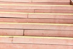 Stappen van dunne houten platen Close-up royalty-vrije stock foto's