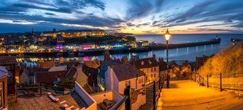 199 stappen Whitby, North Yorkshire, royalty-vrije stock foto