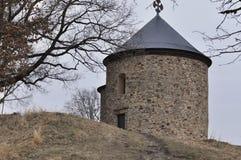 Starý Plzenec romanesque church Stock Photos