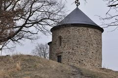 Starý Plzenec romanesque kerk Stock Foto's
