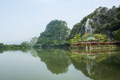 Star湖在肇庆,中国 库存照片