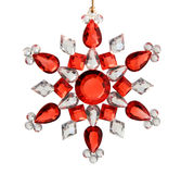 Star. Made of red and white jewels. Isolated on white background with clipping path Royalty Free Stock Images