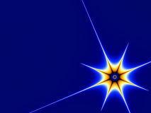 Star. Orange star on blue background Royalty Free Stock Photos