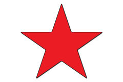 Star. Red star illustrator symbol Stock Photography
