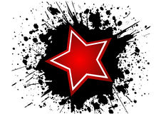 Star. In black grunge background eps Stock Photography