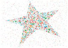 Star. Color drops star on the white background Stock Photography