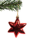 Star. Red christmas star isolated on white background Stock Image