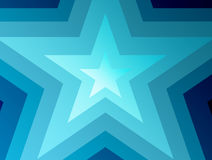 Star. Blue  and white concentric stars. abstract illustration Stock Photography