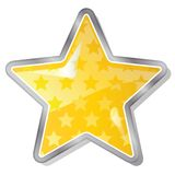 Star. Yellow star icon with stars pattern vector illustration isolated on white background Stock Photo