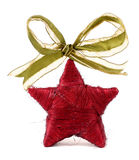 Star. Red christmas star for party Stock Images