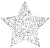 Star. Vector star illustration in black Royalty Free Stock Photos