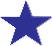 Star. Blue star illustration on a white background Royalty Free Stock Photo