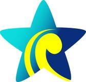 Star. Isolated line art logo design Stock Images