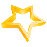 Star. Computer generated gold star logo on white Stock Photos