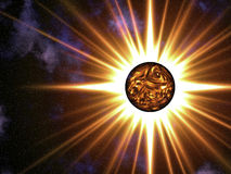 The star. This image shows a star in the Universe Royalty Free Stock Photography
