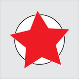 Star. Five pointed star Stock Image