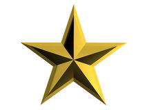 Star. Golden star on white background Royalty Free Stock Photography