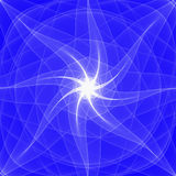 Star. Light star on blue background - abstract fractal Stock Photos