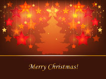 Star 2. Decorative Christmas background with shining stars patterns Stock Images