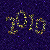 Star 2010 background Stock Images