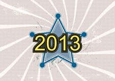 Star and 2013 new year. Background design Royalty Free Stock Photography