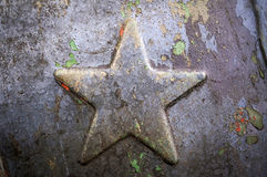 Star. Old metallic Soviet star (USSR royalty free stock photography