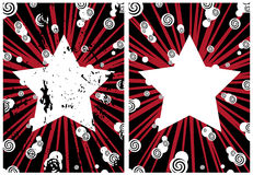 Star. White Star On Red Background Royalty Free Stock Image