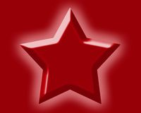 Star. Red Star. Symbol with red Background Vector Illustration