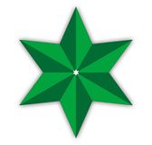 Star. Green vector star isolated on white background Royalty Free Stock Photo
